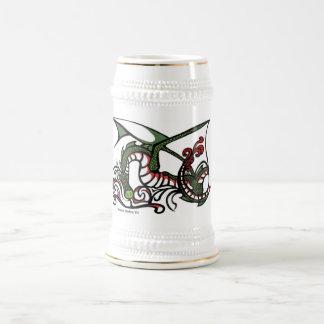 Jarra De Cerveza Humo Stein del dragón