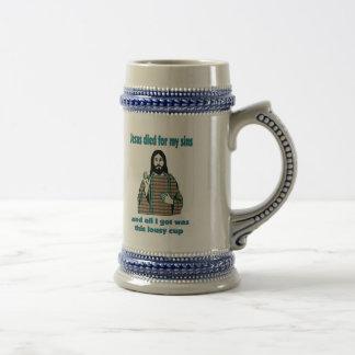 Jarra De Cerveza Humor de Jesús