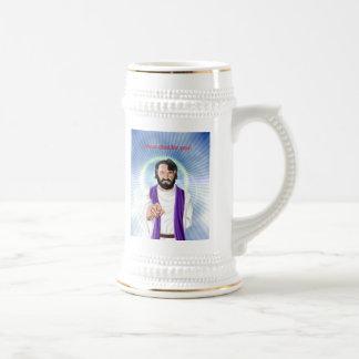 Jarra De Cerveza Jesús murió por usted, Jesús murió por usted