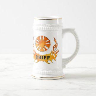 Jarra De Cerveza Las llamas del jefe