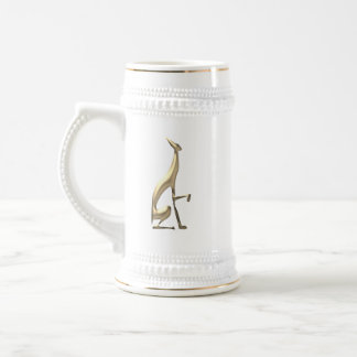 Jarra De Cerveza Moda mínima agraciada elegante del perro de oro