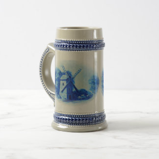 Jarra De Cerveza Molino de viento azul de Delft, caballo azul de