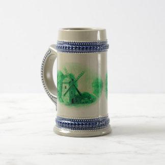 Jarra De Cerveza Molino de viento verde de Delft, caballo verde de