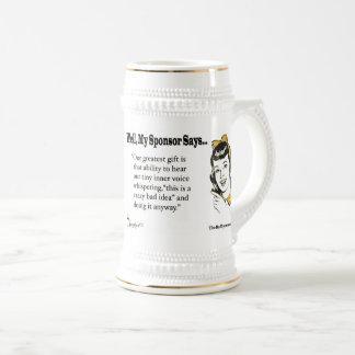 Jarra De Cerveza Nuestro regalo más grande es esa capacidad de oír…