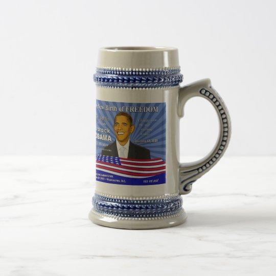 Jarra De Cerveza Obama Philadelphia Stein conmemorativo