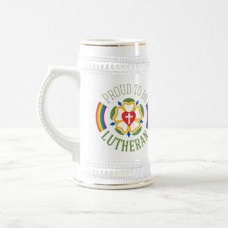 "Jarra De Cerveza ""Orgulloso ser cerveza Stein del Lutheran"""