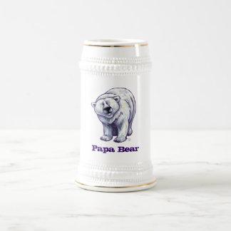 Jarra De Cerveza Oso polar Stein del oso de la papá