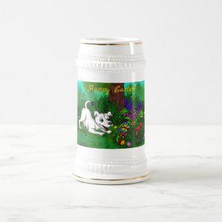 Jarra De Cerveza Pascua - ceja y mariposa del perrito