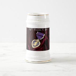 Jarra De Cerveza Purple Heart Stine, personalizado