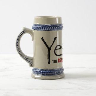 Jarra De Cerveza Razón del navidad de Yeshua Jesús de la estación