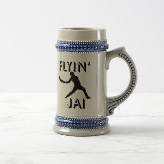 Jarra De Cerveza Silueta negra de Flyin Jai