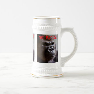 Jarra De Cerveza Silverback del gorila Boss Stein gigante