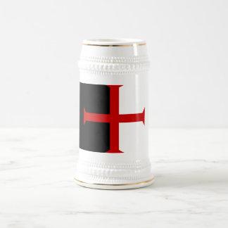 Jarra De Cerveza Stein de la bandera de Templar