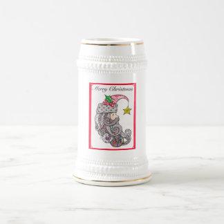 Jarra De Cerveza Stein del navidad del padre