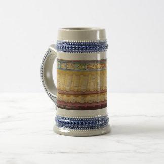 Jarra De Cerveza Tejado chino /Blue gris 22 onza Stein del templo