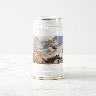 Jarra De Cerveza Valkyries hermoso a caballo