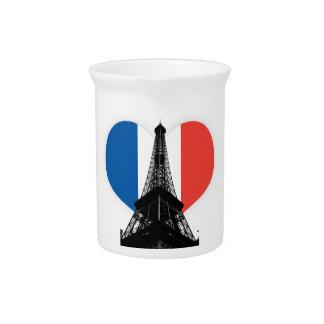 Jarra de la bebida de la torre Eiffel