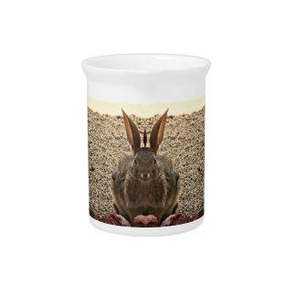 Jarra de la porcelana del conejito del amor