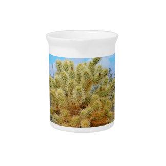 Jarra de salto de la porcelana del cactus