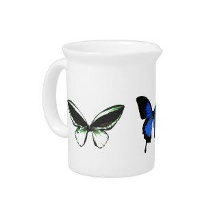 Jarra del modelo de mariposa