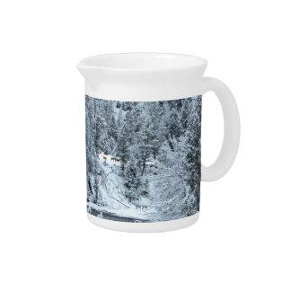 """Jarra - """"día de invierno en Yellowstone """""""