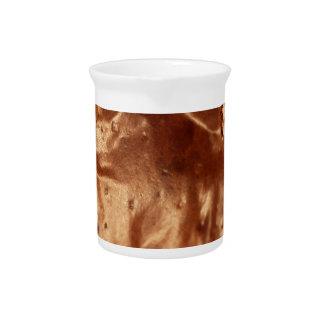 Jarra Foto macra de una cubierta del chocolate de una