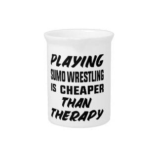 Jarra Jugar la lucha de sumo es más barato que terapia