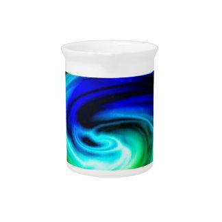 Jarra modelo del remolino del color