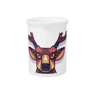 Jarra Para Bebidas animal de los ciervos con los cuernos