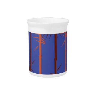 Jarra Para Bebidas Azul de bambú del diseño