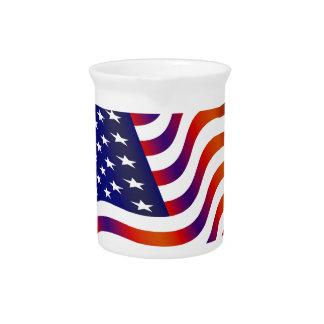 Jarra Para Bebidas Bandera americana