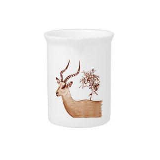 Jarra Para Bebidas Bosquejo animal del dibujo de la fauna del