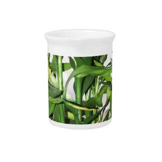 Jarra Para Bebidas Brotes y hojas verdes de bambú