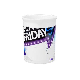 Jarra Para Bebidas Diseño negro del arco del regalo de la venta de