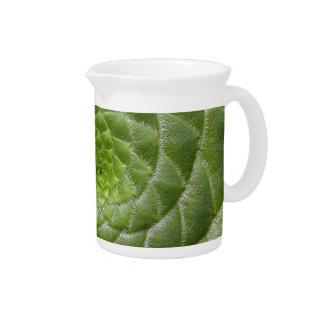 Jarra Para Bebidas diseño verde del espiral del modelo de la hoja