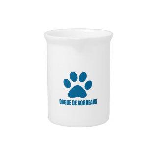 JARRA PARA BEBIDAS DISEÑOS DE DOGUE DE BORDEAUX DOG