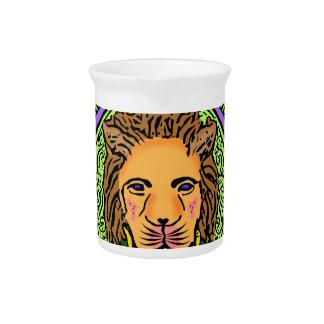 Jarra Para Bebidas Exclusiva del arte del león