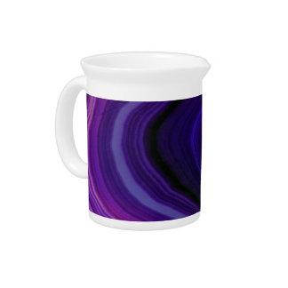 Jarra Para Bebidas Falln remolinó Geode púrpura