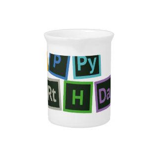 Jarra Para Bebidas Feliz cumpleaños periódico