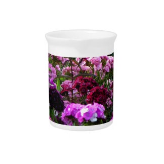 Jarra Para Bebidas Jardín de flores en verano