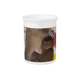 Jarra Para Bebidas Madre y bebé del mono