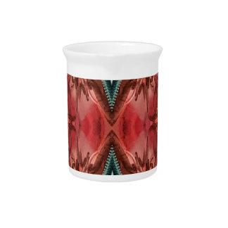 Jarra Para Bebidas Modelo artístico color de rosa polvoriento fresco