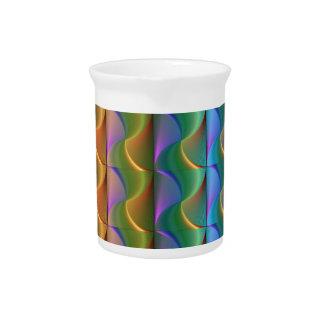 Jarra Para Bebidas Modelo psicodélico colorido brillante