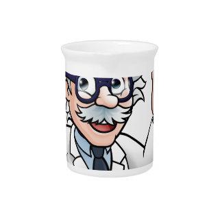Jarra Para Bebidas Personaje de dibujos animados del científico que