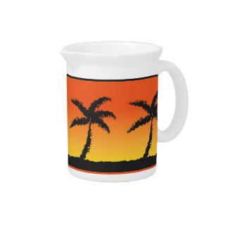 Jarra Para Bebidas Puesta del sol de la isla