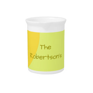 Jarra Para Bebidas Remolinos de encargo del amarillo