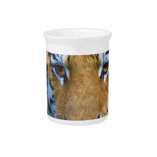 Jarra Tigre en el bambú - pintura