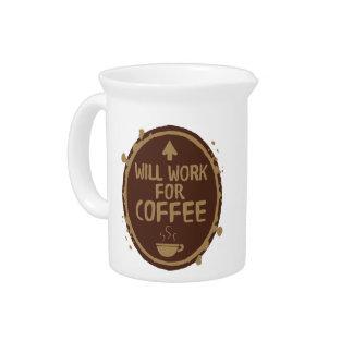 Jarra Trabajará para el café