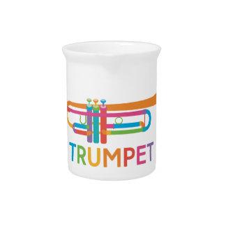 Jarra Trompeta vibrante en colores del arco iris
