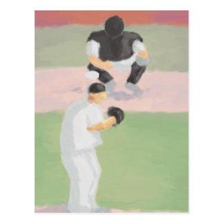 Jarra y colector, postal del béisbol